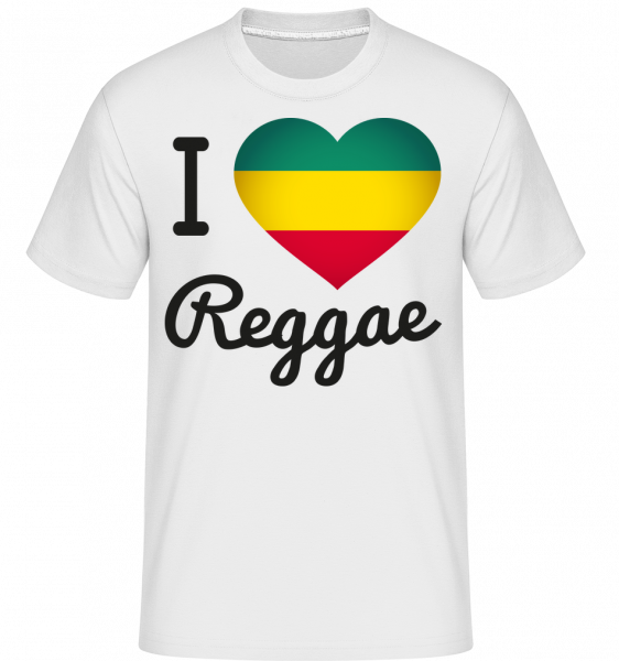 I Love Reggae -  Shirtinator tričko pro pány - Bílá - Napřed