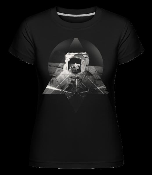 Astronaut - Shirtinator tričko pro dámy - Černá - Napřed