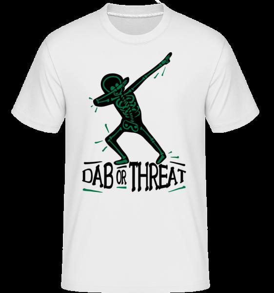DAB nebo Threat -  Shirtinator tričko pro pány - Bílá - Napřed