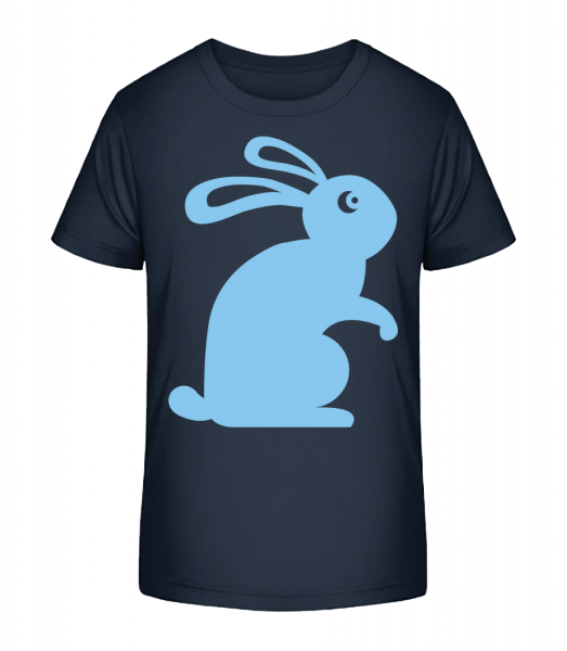 Easter Bunny Icon - Detské Premium Bio tričko - Namořnická modrá - Napřed