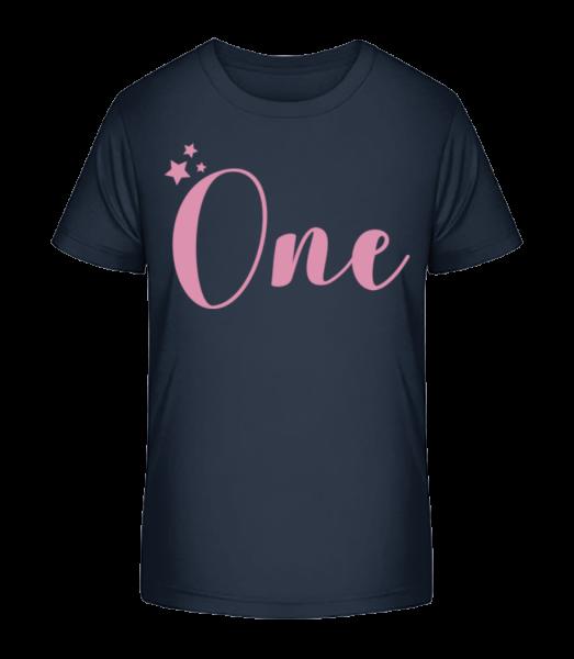 One - Detské Premium Bio tričko - Namořnická modrá - Napřed