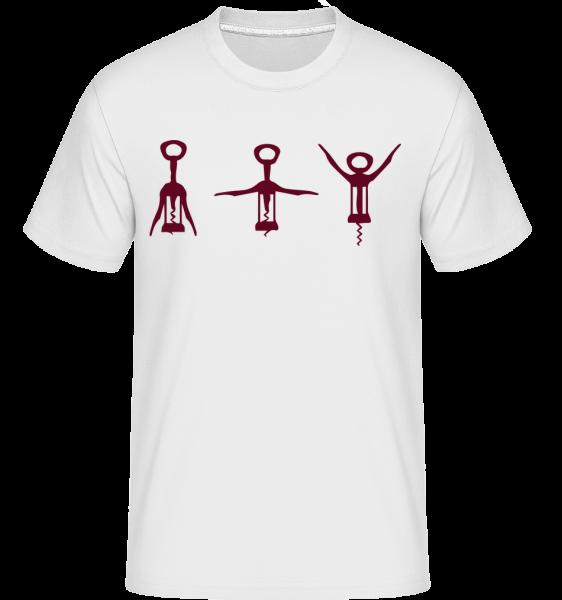 Vývrtka -  Shirtinator tričko pro pány - Bílá - Napřed