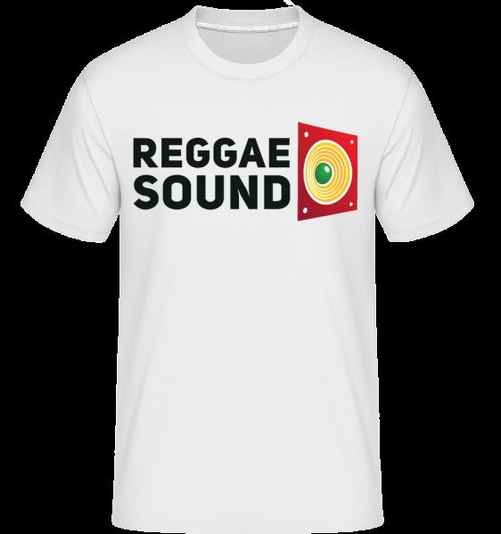 reggae Sound -  Shirtinator tričko pro pány - Bílá - Napřed