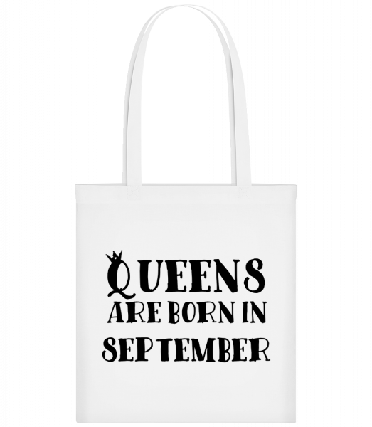 Queens Are Born In September - Taška Carrier - Bílá - Napřed