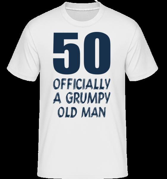 Officially Grumpy Old Man 50 -  Shirtinator tričko pro pány - Bílá - Napřed