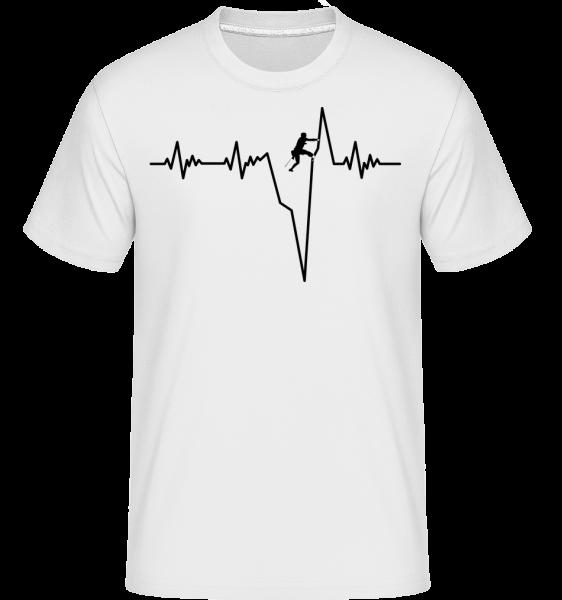 Bouldering Heartbeat - Shirtinator tričko pro pány - Bílá - Napřed