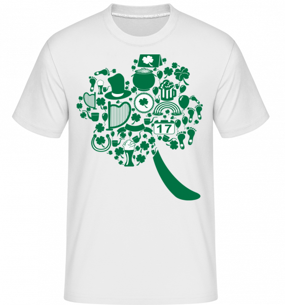 Ireland Symbols -  Shirtinator tričko pro pány - Bílá - Napřed