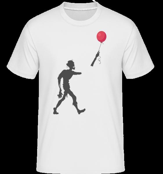 Zombie Balloon -  Shirtinator tričko pro pány - Bílá - Napřed