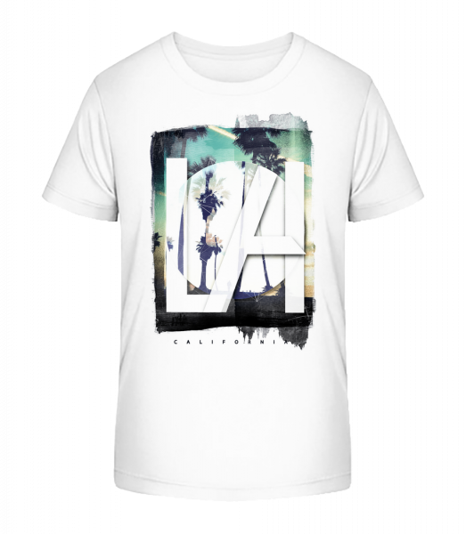 Los Angeles - Detské Premium Bio tričko - Bílá - Napřed
