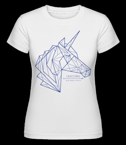 geometrie Einhorn - Shirtinator tričko pro dámy - Bílá - Napřed