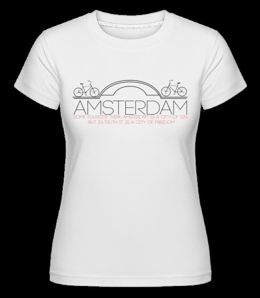 Amsterdam Netherlands -  Shirtinator tričko pro dámy - Bílá - Napřed