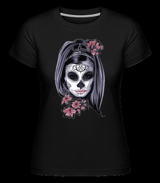 Scary Girl Mask -  Shirtinator tričko pro dámy - Černá - Napřed