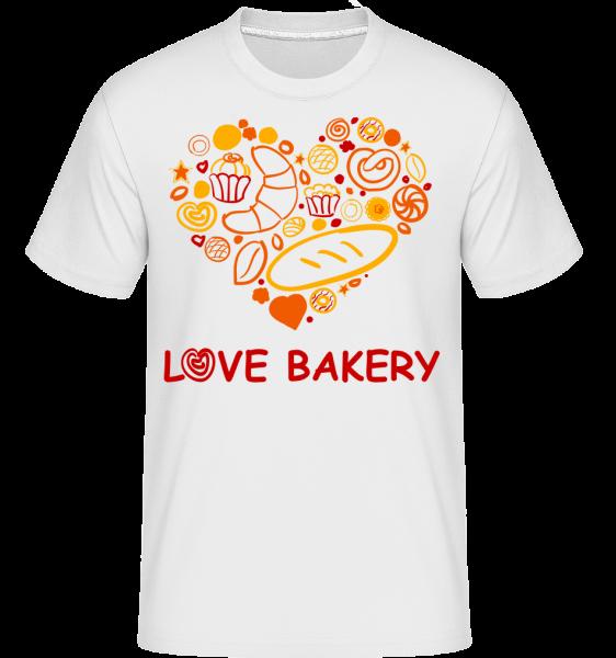 Love Bakery - Shirtinator tričko pro pány - Bílá - Napřed