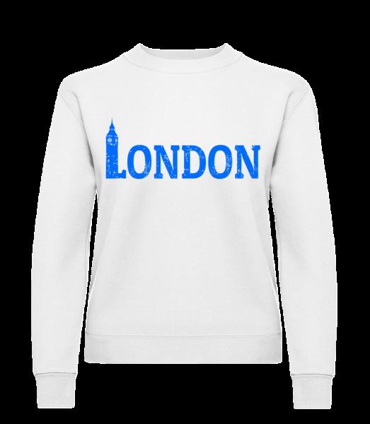 London UK - Klasická mikina pro dámy sg - Bílá - Napřed
