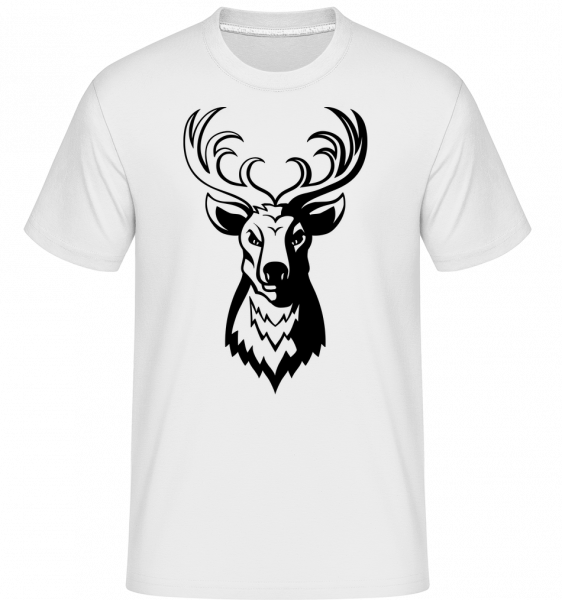 Jelen -  Shirtinator tričko pro pány - Bílá - Napřed