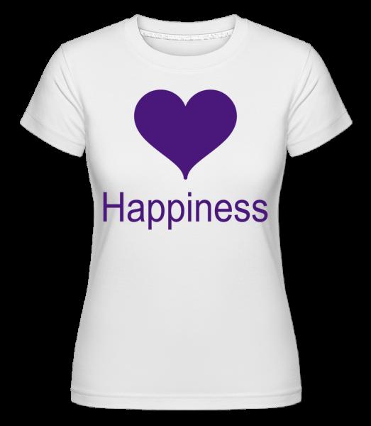 Happiness Heart -  Shirtinator tričko pro dámy - Bílá - Napřed