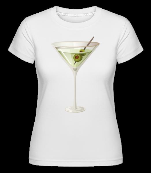 Koktejl -  Shirtinator tričko pro dámy - Bílá - Napřed