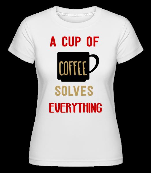 Šálek kávy - Shirtinator tričko pro dámy - Bílá - Napřed
