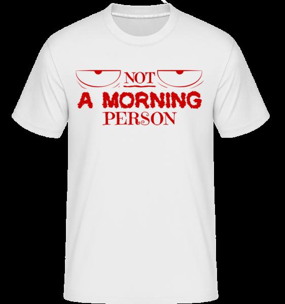 Není ranní ptáče - Shirtinator tričko pro pány - Bílá - Napřed