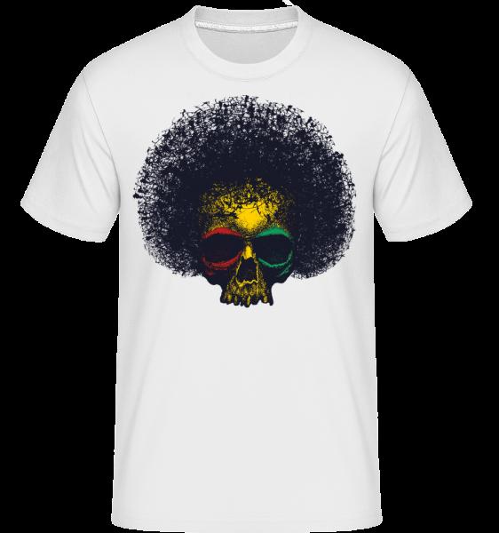 reggae Skull - Shirtinator tričko pro pány - Bílá - Napřed