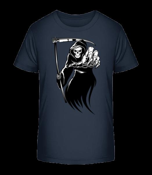 Smrt - Detské Premium Bio tričko - Namořnická modrá - Napřed