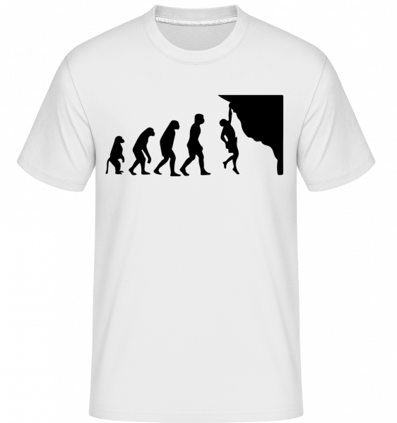 Climbing Evolution - Shirtinator tričko pro pány - Bílá - Napřed