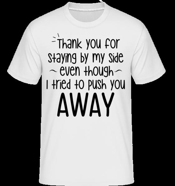 Thank You For Staying - Shirtinator tričko pro pány - Bílá - Napřed