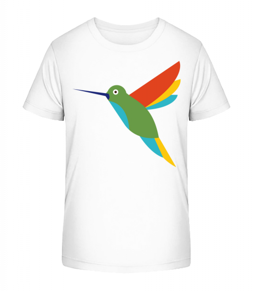 Hummingbird Comic - Detské Premium Bio tričko - Bílá - Napřed