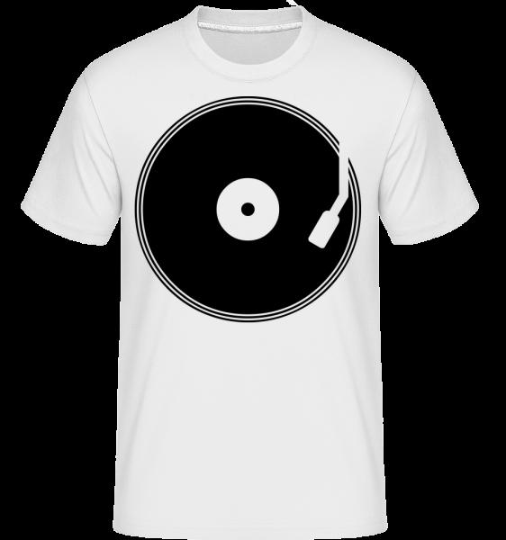 DJ Record -  Shirtinator tričko pro pány - Bílá - Napřed
