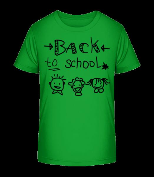 Zpátky do školy - Detské Premium Bio tričko - Zelená - Napřed