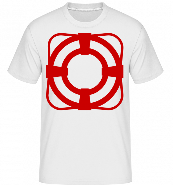 Záchranný pás -  Shirtinator tričko pro pány - Bílá - Napřed