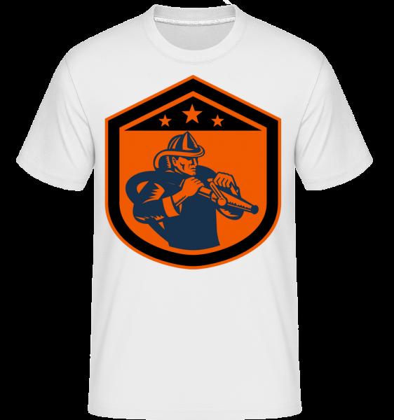 Hasiči Emblem -  Shirtinator tričko pro pány - Bílá - Napřed