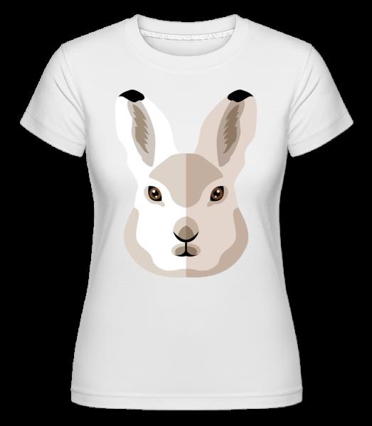 Bunny Comic Shadow -  Shirtinator tričko pro dámy - Bílá - Napřed