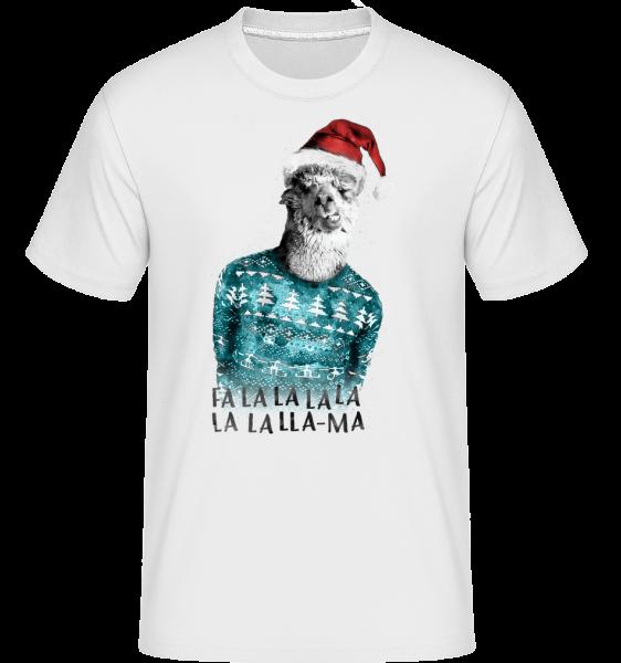 Christmas Lama - Shirtinator tričko pro pány - Bílá - Napřed