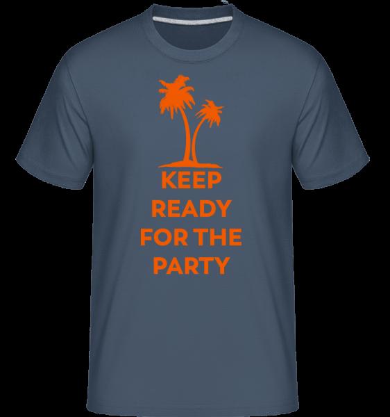 Mějte připraven na stranu - Shirtinator tričko pro pány - Džínovina - Napřed