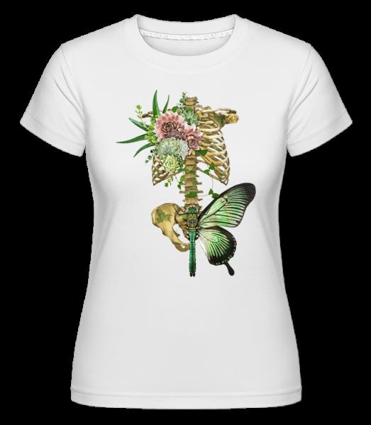 rafinovaný Spine - Shirtinator tričko pro dámy - Bílá - Napřed