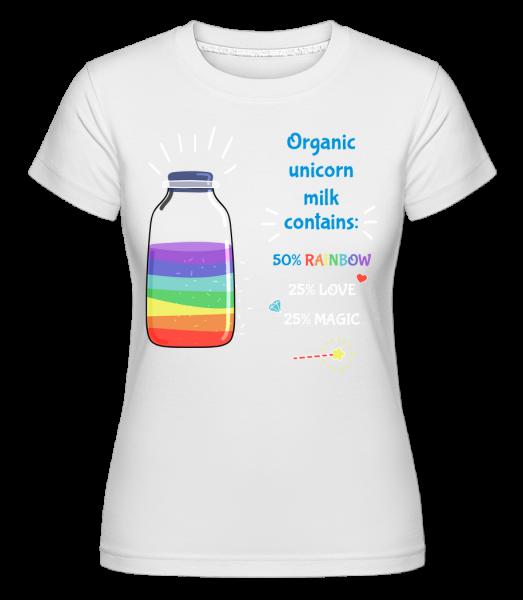 Organic Unicorn Milk -  Shirtinator tričko pro dámy - Bílá - Napřed
