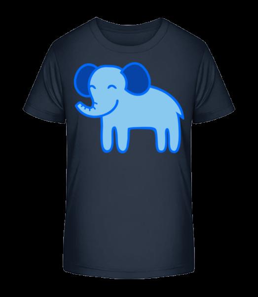 Kids Comic - Elephant - Detské Premium Bio tričko - Namořnická modrá - Napřed