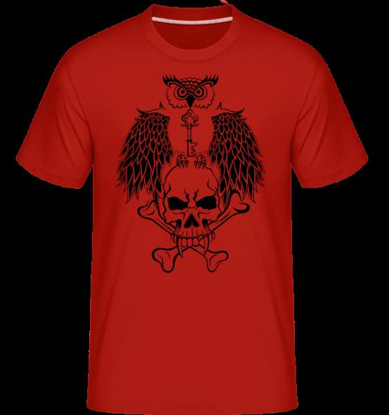 Guardian z klíčových tetování - Shirtinator tričko pro pány - Červená - Napřed