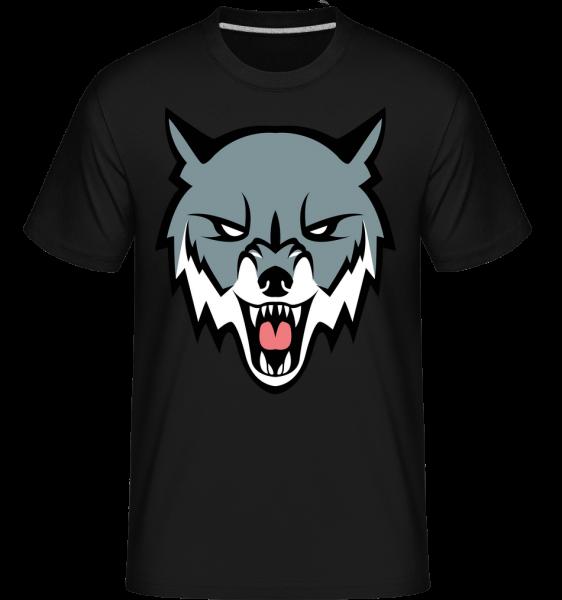 rozzlobený Vlk -  Shirtinator tričko pro pány - Černá - Napřed
