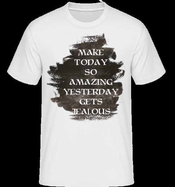Udělat Včera Žárlivý - Shirtinator tričko pro pány - Bílá - Napřed