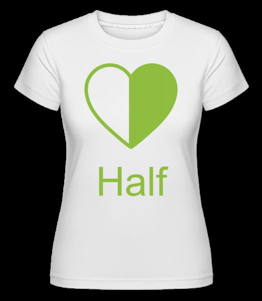 Half Heart - Shirtinator tričko pro dámy - Bílá - Napřed