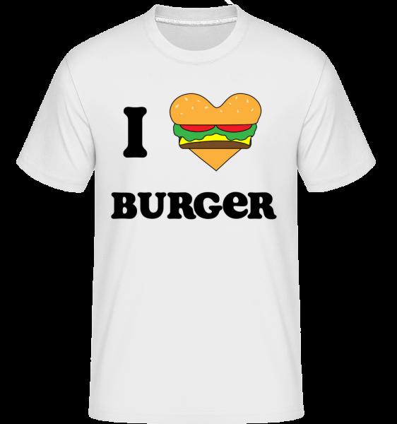 I Love Burger - Shirtinator tričko pro pány - Bílá - Napřed