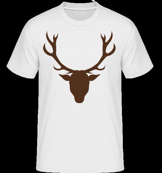 Deer - Brown -  Shirtinator tričko pro pány - Bílá - Napřed