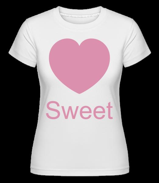 Sweet Heart -  Shirtinator tričko pro dámy - Bílá - Napřed