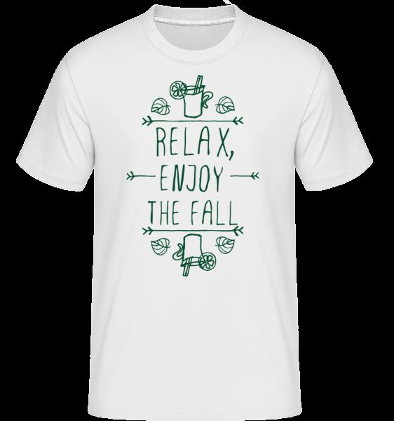 Relax, Enjoy The Fall -  Shirtinator tričko pro pány - Bílá - Napřed