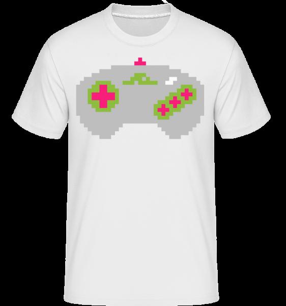 Konzole Controller Oldschool -  Shirtinator tričko pro pány - Bílá - Napřed