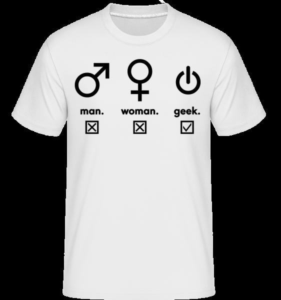 Muž Žena symboly Geek -  Shirtinator tričko pro pány - Bílá - Napřed