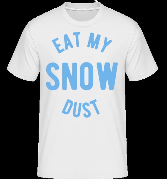 Jíst My Snow Dust -  Shirtinator tričko pro pány - Bílá - Napřed
