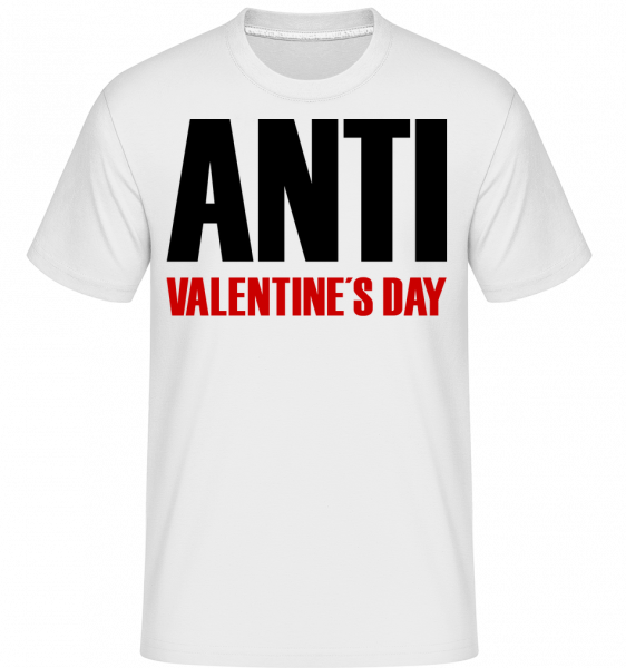 Day Anti Valentýna -  Shirtinator tričko pro pány - Bílá - Napřed